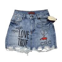 Джинсовая юбка Cracpot jeans 5005