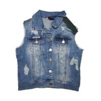 Джинсовая жилетка Cracpot jeans 6269