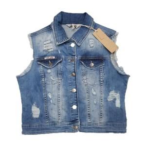 Джинсовая жилетка Cracpot jeans 6269b