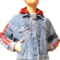 Куртка женская IT'S BASIC JEANS 1604 МОМ Турция