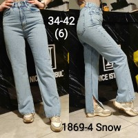 Джинсы женские IT'S BASIC JEANS 1869-4 WIDE LEG MOM Турция