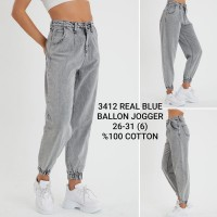 Джинсы женские REAL BLUE JEANS 3412 Balloon JOGGER Турция