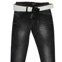Джинсы женские Liuzin jeans темно-серые 1113
