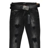 Джинсы женские Liuzin jeans темно-серые 1113a