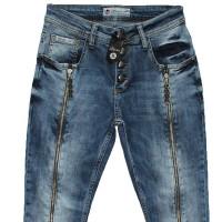 Джинсы женские со змейкой по ногамLiuzin jeans boyfriend 3111