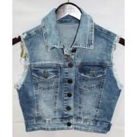 Джинсовые жилетки Crackpot jeans 6240 B