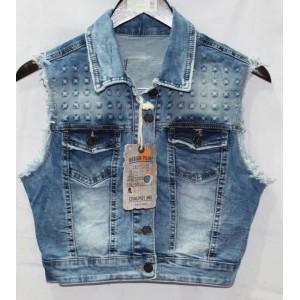 Джинсовая жилетка Crackpot jeans 6240 b